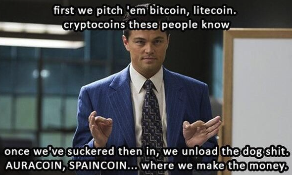 Cryptocurrency Investment Strategy: Picture of Leo di Caprio from Wolf of Wall Street