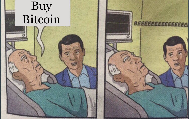 Grandpa with Bitcoin