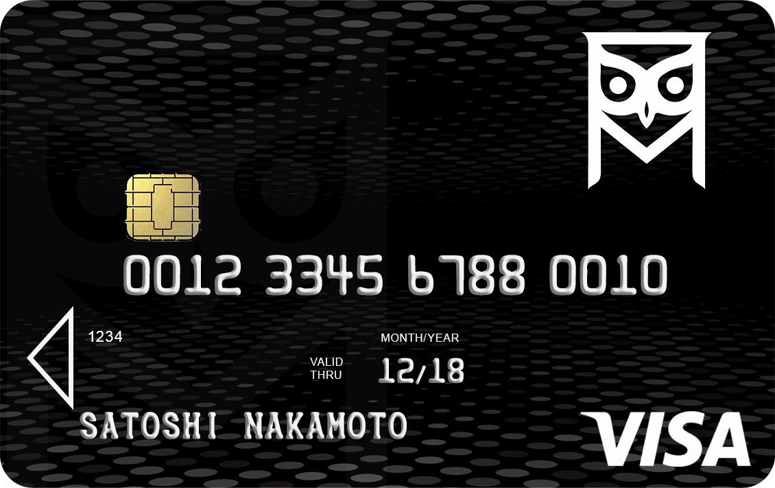 Bitcoin Black Card Picture of Card
