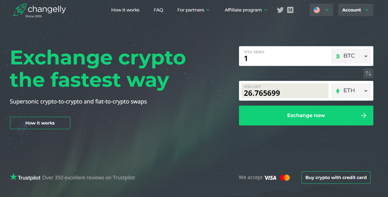 Changelly Purchase Interface