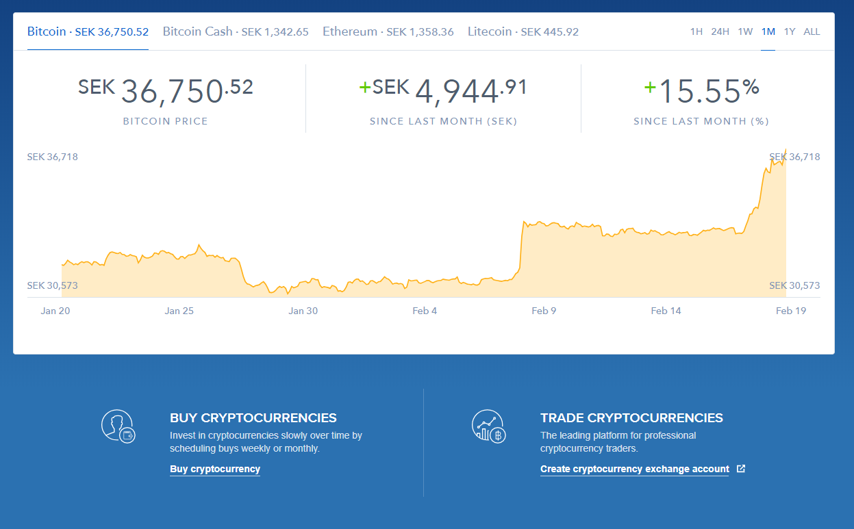 Coinbase Trading View