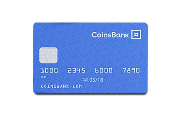 CoinsBank Card Picture of Card