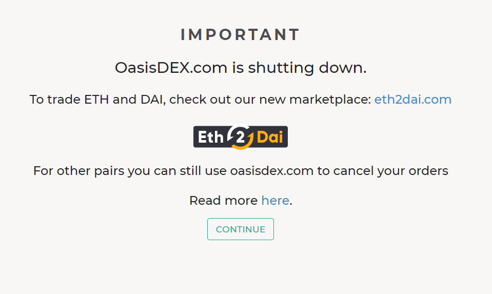 OasisDEX Message