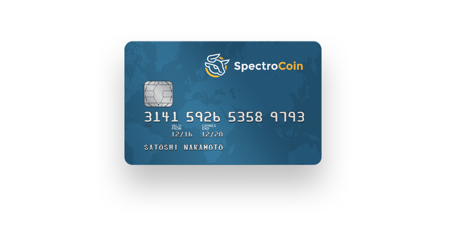 SpectroCoin Card Picture of Card