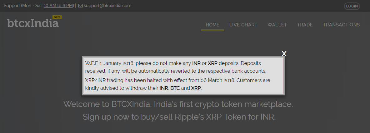 BTCXIndia Message