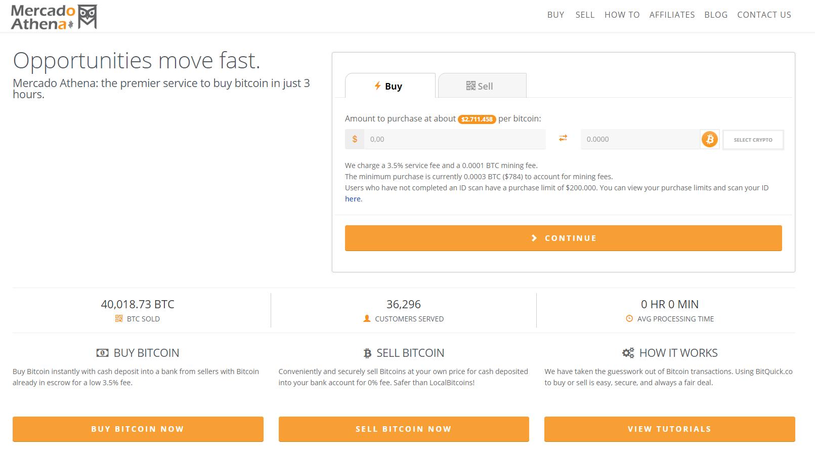 Mercado Athena Purchase Interface