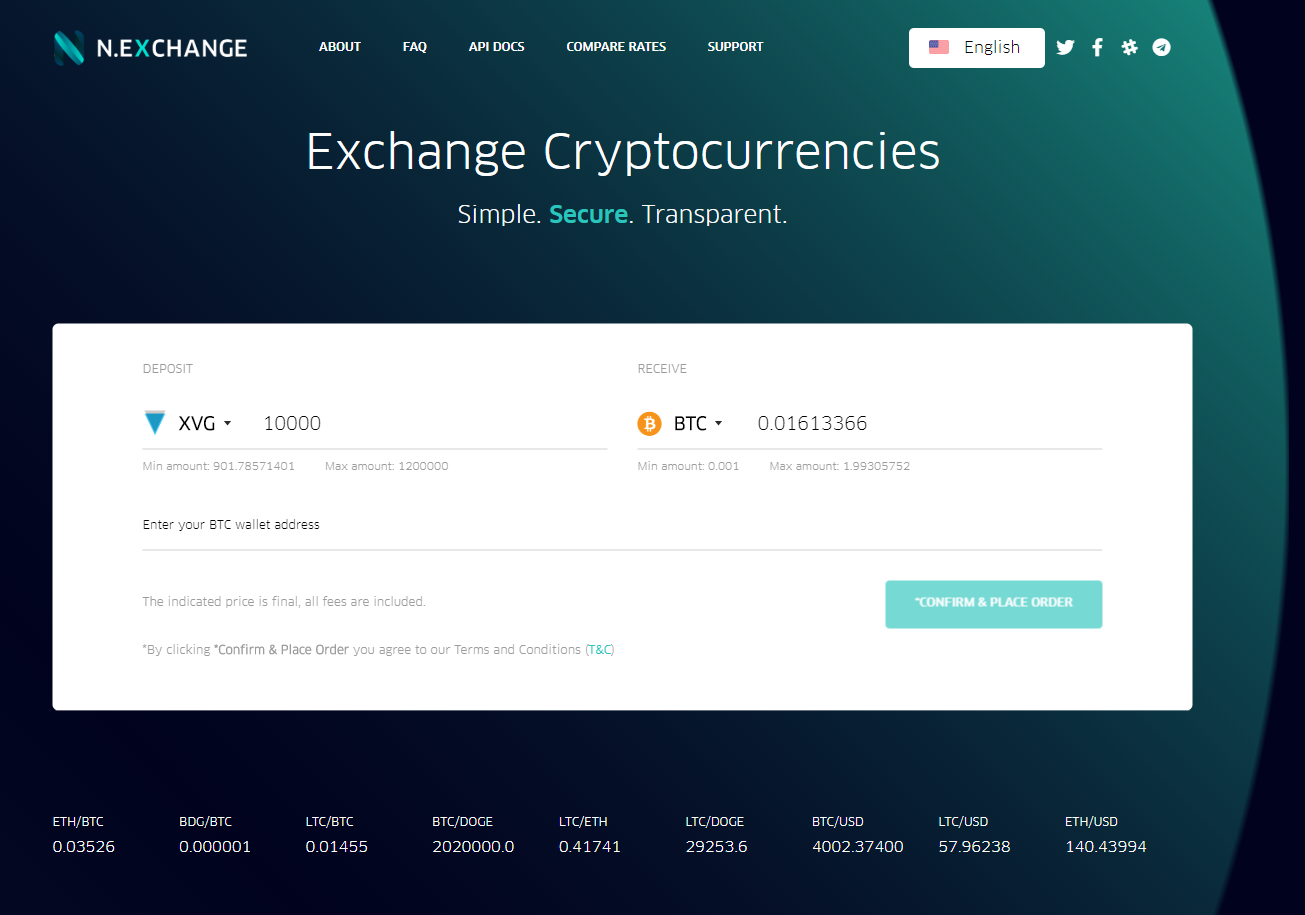 N.Exchange Purchase Interface