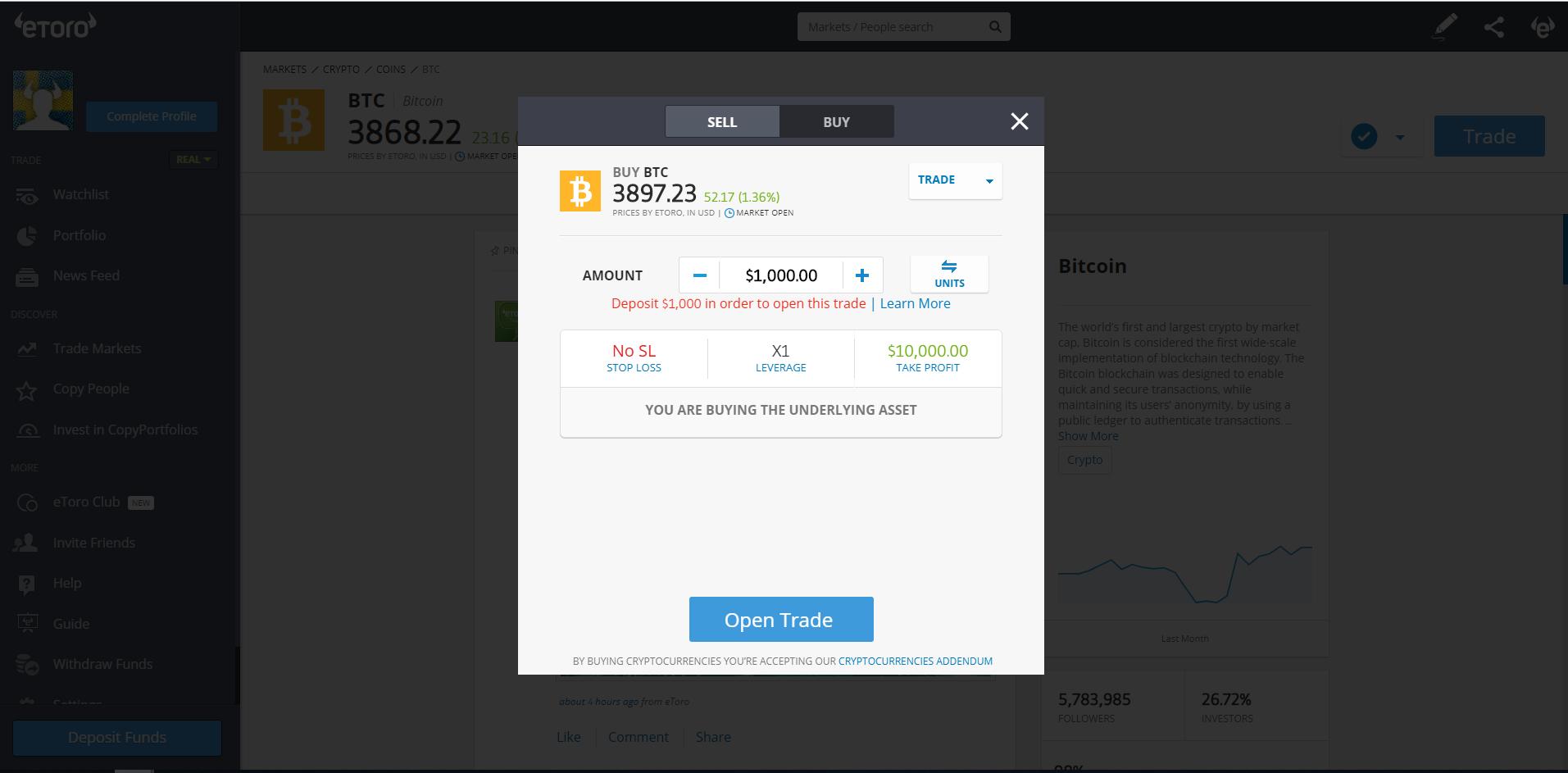 venditori bitcoin top