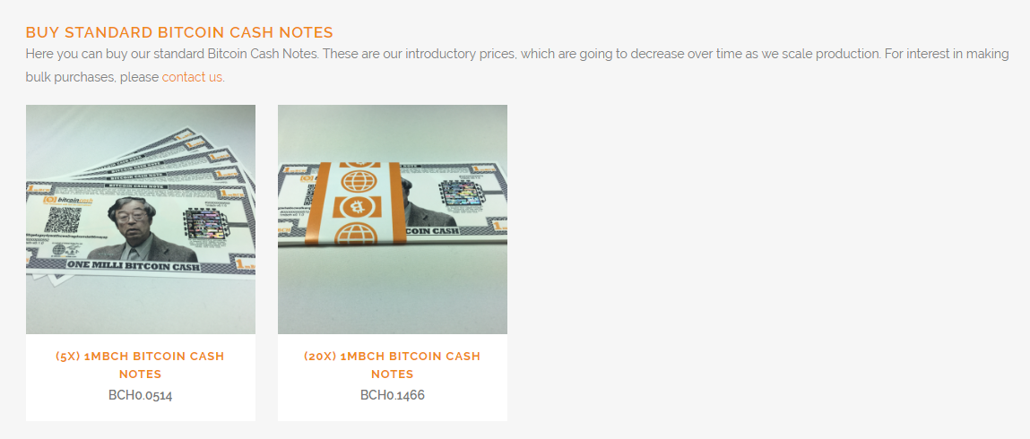 Bitcoin Cash Notes Picture