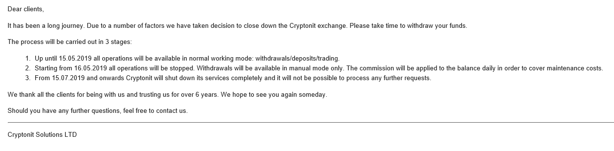 Cryptonit Message