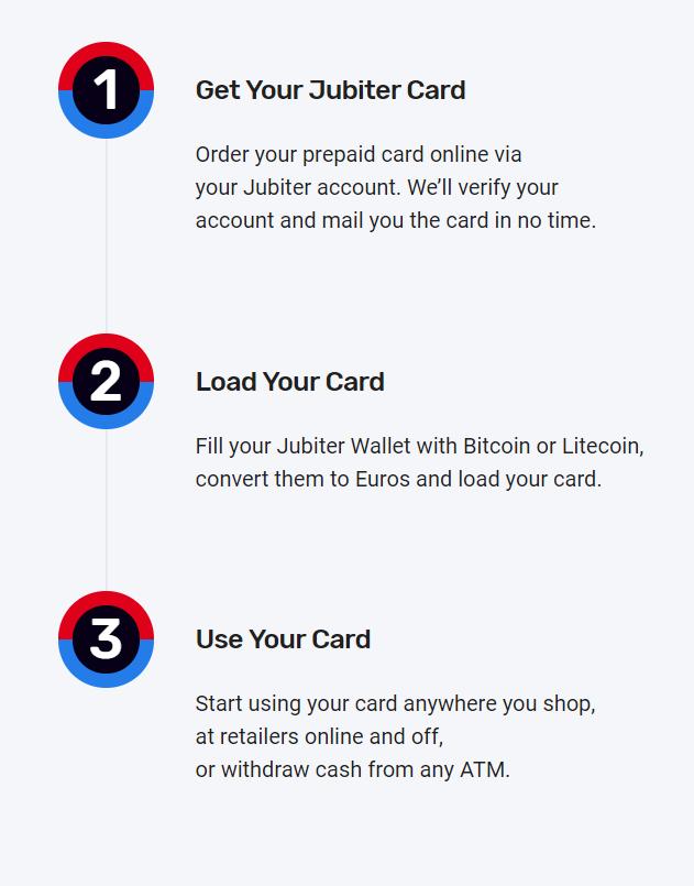 Jubiter Card 3 Steps