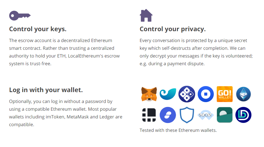 LocalCryptos Security Aspects