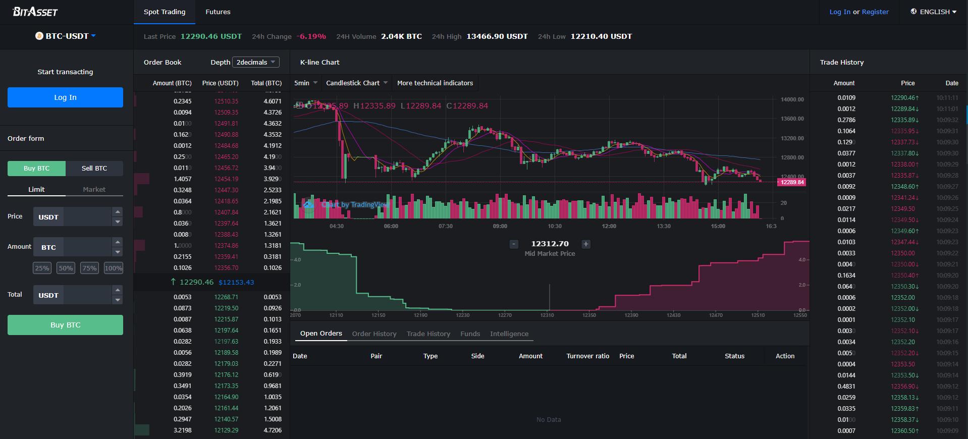 BitAsset Exchange Trading View