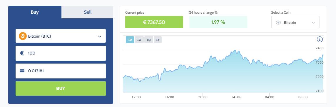 Coinmerce Purchase Interface