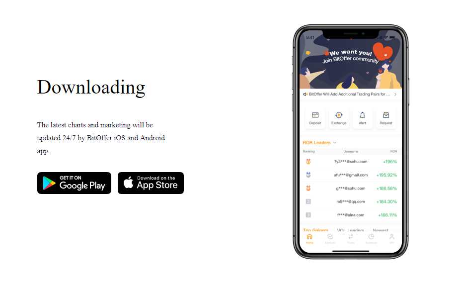 BitOffer Mobile Support