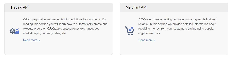 CRXZone APIs