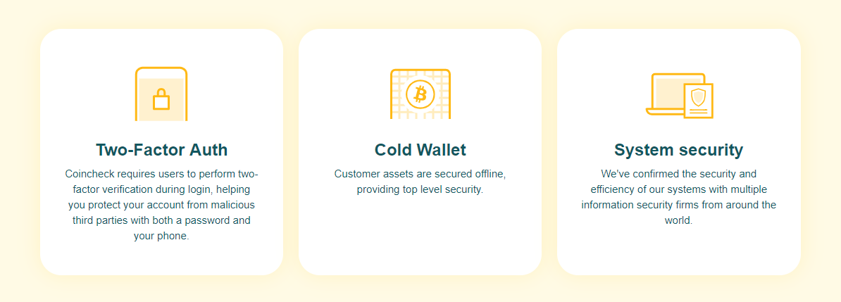Coincheck Security Features
