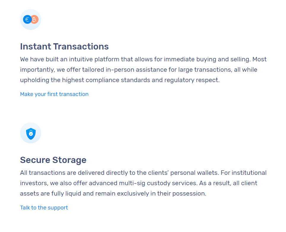 Coinhouse Advantages