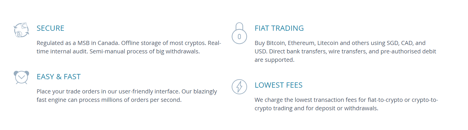 Coinut Four Factors