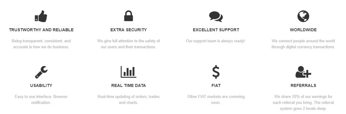 InfinityCoin Exchange Advantages