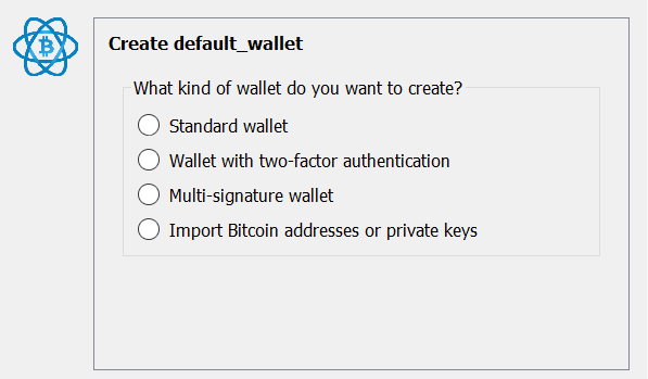Electrum Wallet Create Default