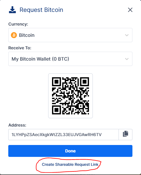 Request BTC