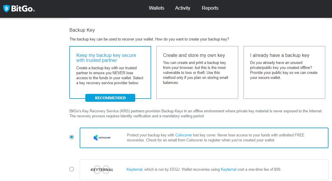 BitGo Backup Key