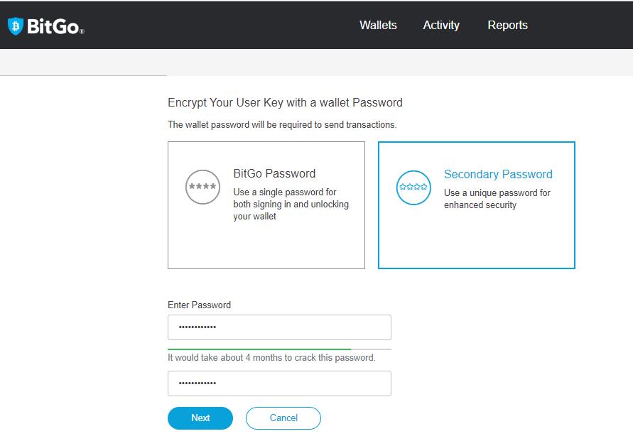 BitGo Wallet Key Encryption