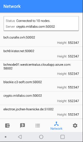 Electron Cash Wallet Network Picture