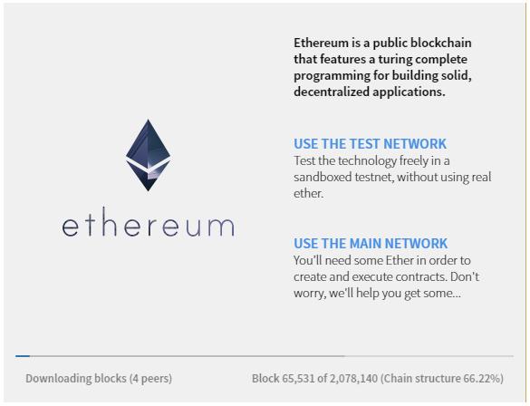 Ethereum Mist Wallet Test or Main Network