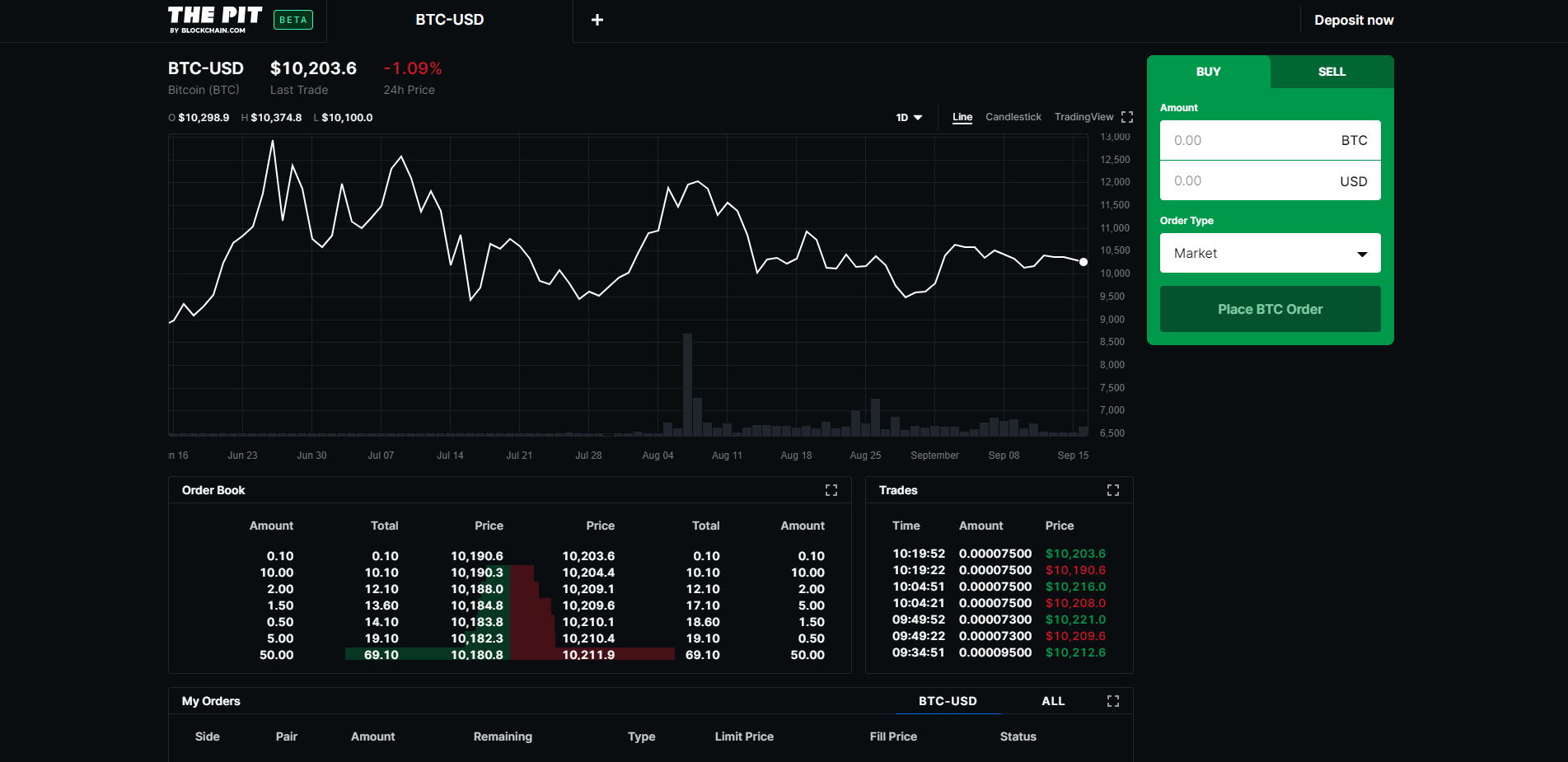 The Pit Trading View