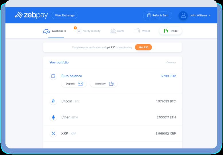 ZebPay Wallet Portfolio Overview