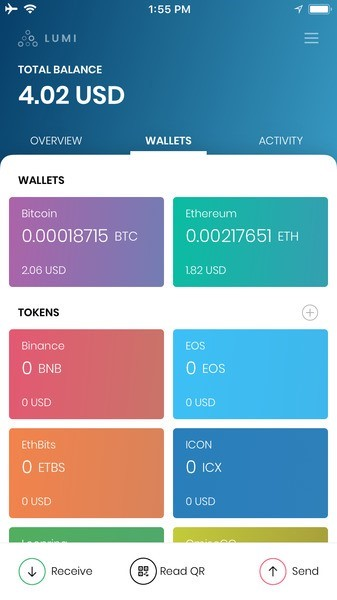 Lumi Wallet Supported Coins