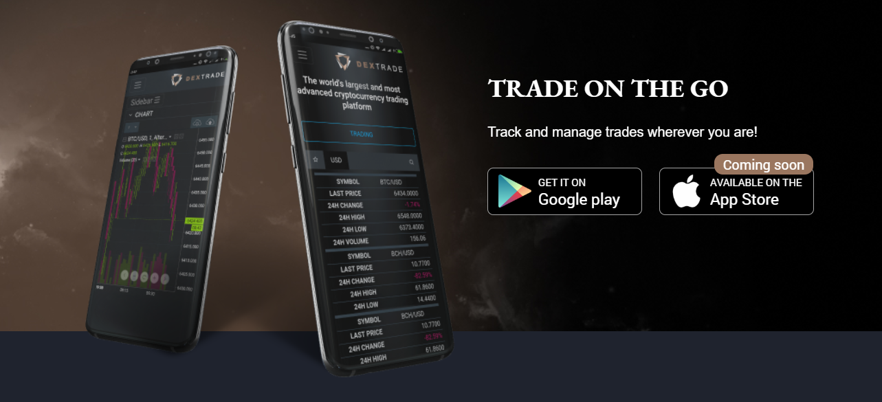 Dex-Trade Mobile Support