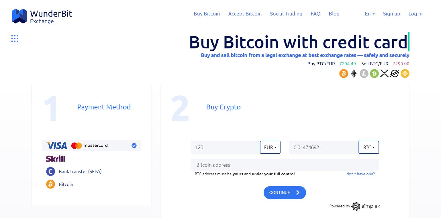 WunderBit Purchase Interface