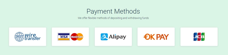 Fedlio Payment Methods