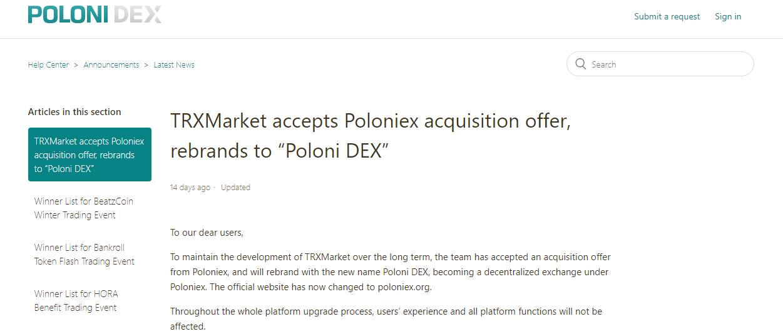 TRX Market Rebranding