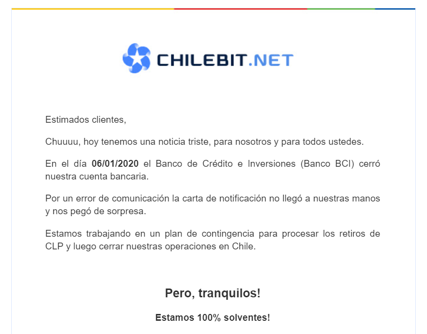 Chilebit.net Message